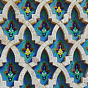 Decorative Tiles On A Mosque Poster