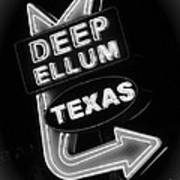 Deep Ellum Black And White Poster