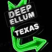 Deep Ellum In Green Poster