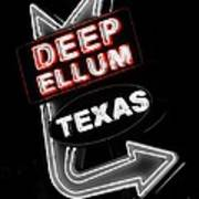 Deep Ellum In Red Poster