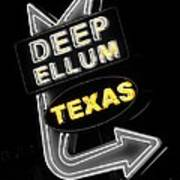 Deep Ellum In Yellow Poster