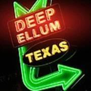 Deep Ellum Red Glow Poster