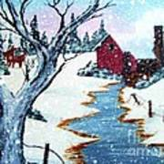 Deer At The Grist Mill Poster