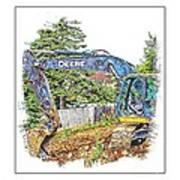 Deere For Hire2 - Excavator - Digger Poster