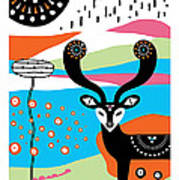 Deery Me Poster by Susan Claire