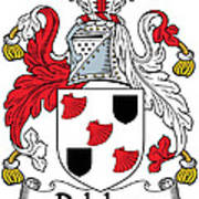 Delahay Coat Of Arms Irish Poster