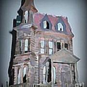 Delapitated Victorian Mansion Poster