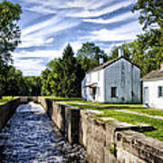 Delaware Canal Kingston New Jersey Poster