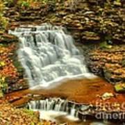Delaware Falls - Ricketts Glen Poster