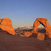Delicate Arch At Sunset-2 Poster by Alan Vance Ley