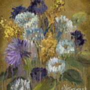 Delicate Aroma II -unfarmed-with Gold Leaf By Vic Mastis Poster
