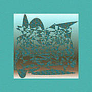 Delicate Turquoize Stroke Poster