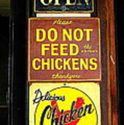 Delicious Chicken Dinners Sign Poster