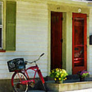 Delivery Bicycle By Two Red Doors Poster
