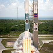 Delta II Launch With Space Telescope Poster