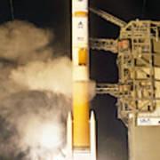 Delta Iv Rocket Taking Off Poster