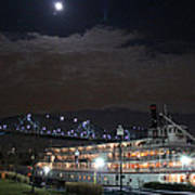 Delta Queen Under A Full Moon Poster by Kathy  White
