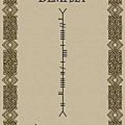Dempsey Written In Ogham Poster