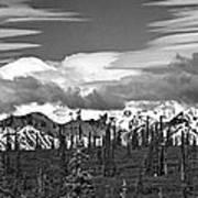 Denali In Clouds Poster