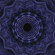 Denim Blues Mandala - Digital Painting Effect Poster