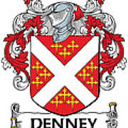 Denney Coat Of Arms Kerry Ireland Poster