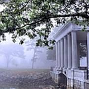 Dense Fog Plymouth Rock Canopy Poster