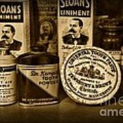 Dentist  -  Tooth Powder And More In Black And White Poster
