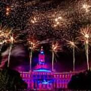 Denver Colorado Independence Eve Fireworks Poster by Teri Virbickis