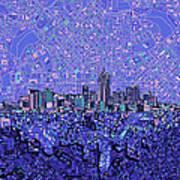 Denver Skyline Abstract 4 Poster