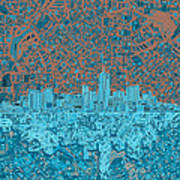 Denver Skyline Abstract Poster