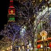 Denver's 16th Street Mall During Holidays Poster
