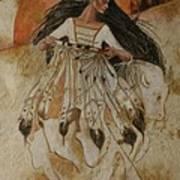 Departure Of White Buffalo Woman Poster by Pamela Mccabe