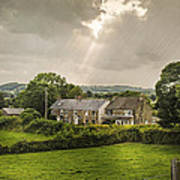 Derbyshire Cottages Poster by Amanda Elwell