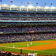Derek Jeter Leads The Way As The Yankees Take The Field Poster