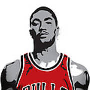 Derrick Rose Poster by Mike Maher