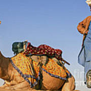 Desert Dance Of The Dromedary And The Camel Driver Poster