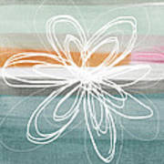 Desert Flower- Contemporary Abstract Flower Painting Poster by Linda Woods