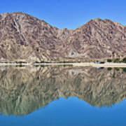 Desert Lake Stillness Poster