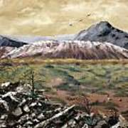 Desert Mountains Poster