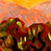 Desert Olive Trees Poster
