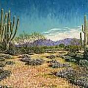 Desert Scene Near Carefree Poster
