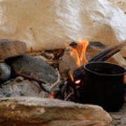 Desert Sinai Fireplace Egypt Poster