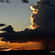 Desert Thunderstorm - Marfa Texas Poster