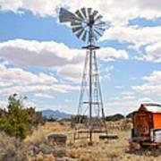 Desert Windmill Poster
