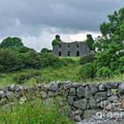 Deserted Building In Ireland Poster