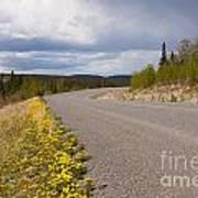 Deserted Rural Highway Yukon Territory Canada Poster