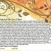 Desiderata On Golden Leaves Poster