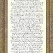 Desiderata Poem By Max Ehrmann Poster