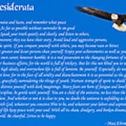 Desiderata With Bald Eagle Poster