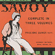 Design For The Front Cover Of 'the Savoy Complete In Three Volumes' Poster